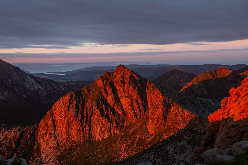 Cir Mhor painted red by Kirstie Smith