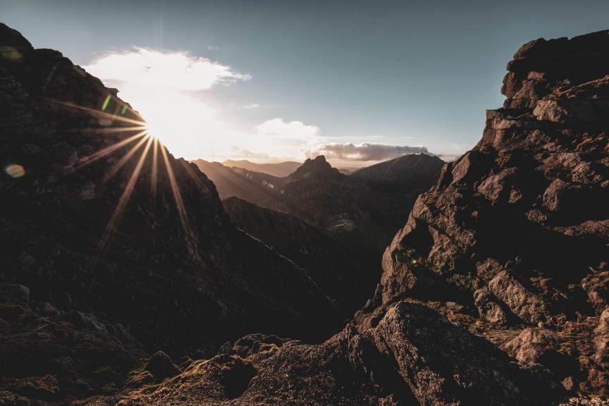 Catching the sun, North Goatfell by Kirstie Smith